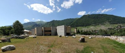 Panoramic View of Svaneti Museum of History and Ethnography in Mestia