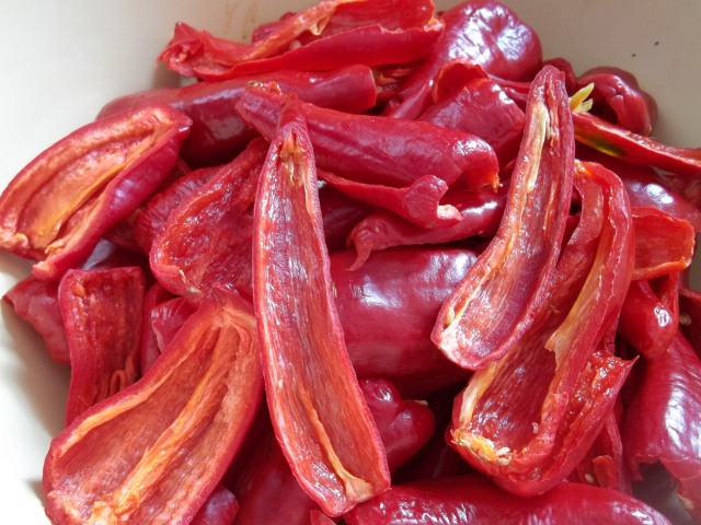 Red Peppers for Ajika with Walnuts Recipe