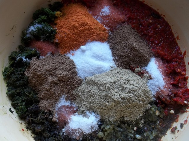 Spices and Salt for Megrelian Ajika Recipe