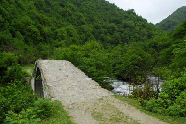 Varjanauli Bridge in Kobuleti District of Ajara