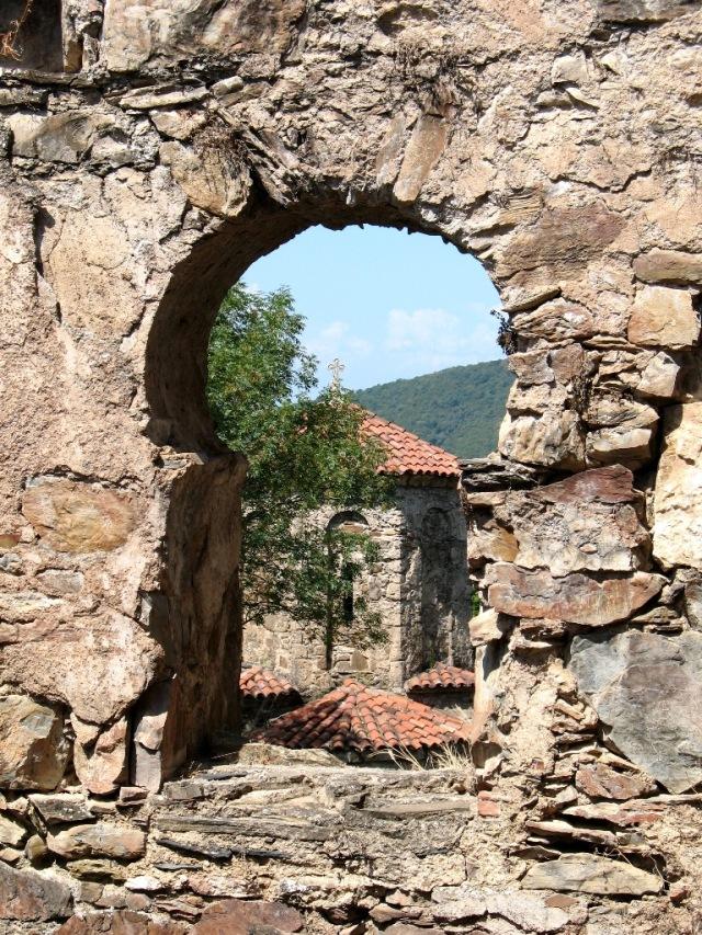 View from a window at Nekresi Monastery. Photo by Lidia Ilona, via Wikimedia Commons