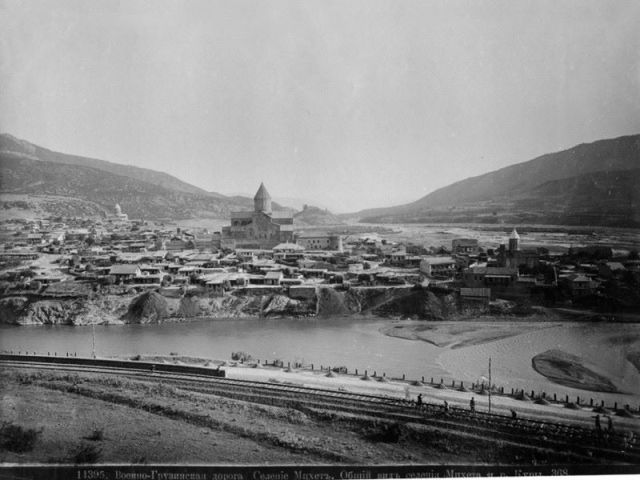 19th century photograph of the old capital of Mtskheta by Dmitri Ivanovich Ermakov.