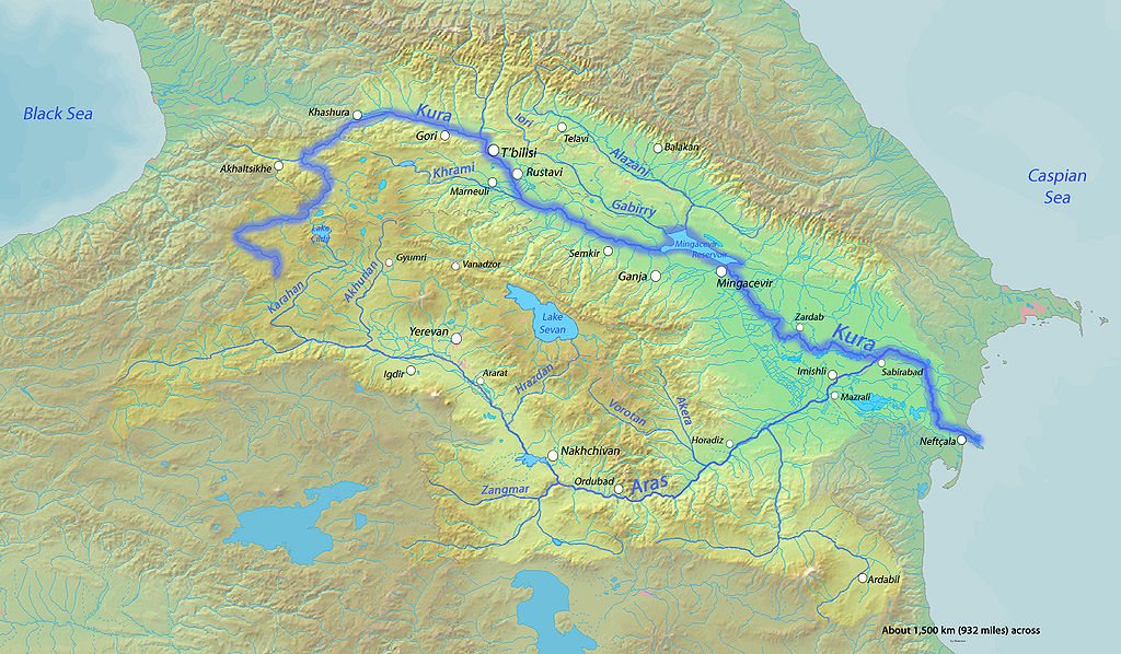 River Map Of Georgia.About Sights The Mtkvari River Georgia About