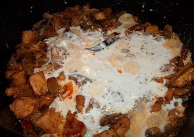 Chicken with Mushrooms and Green Ajika_7