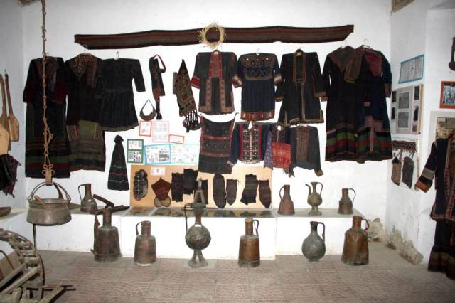 Display at the Khevsureti Ethnographic Museum