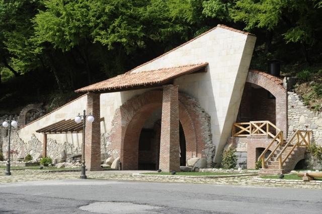 Entrance to Kvareli Gvirabi. Photo courtesy of Winery Khareba.