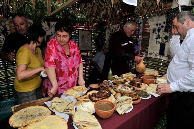 Food at the Wine Festival in Racha – 31 August 2013
