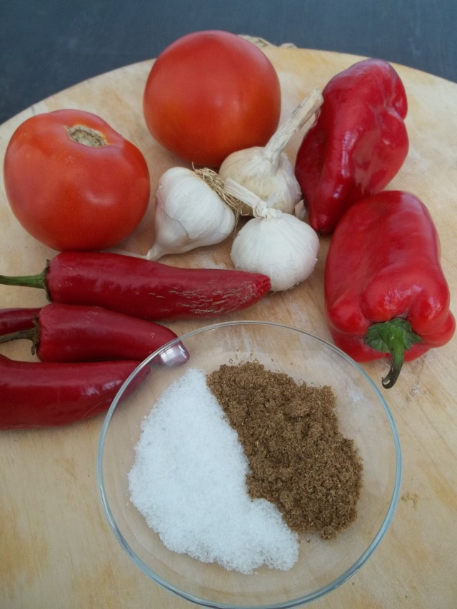 ingredients-for-ajika-with-tomatoes