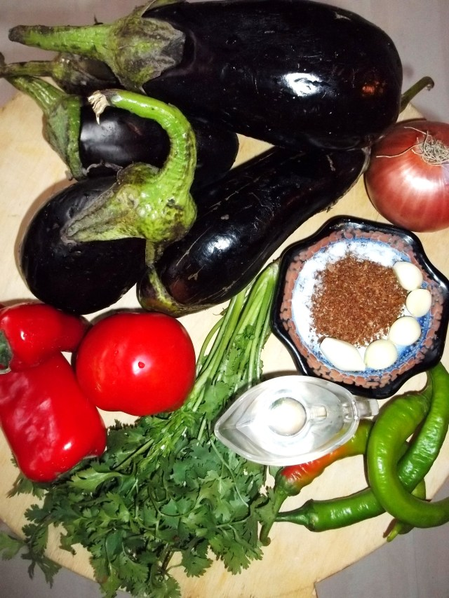 Ingredients for Eggplant with Vinegar and Herbs