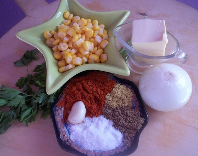 Ingredients for Lobio with Corn Recipe