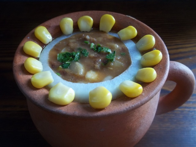 Lobio with Sweetcorn