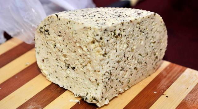 Local Cheese at the Wine Festival in Racha – 31 August 2013