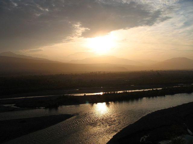 Mtkvari at Gori in Georgia. Photo by Lidia Ilona via Wikimedia Commons