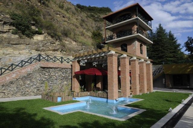 Part of the Winery Khareba Tourist Complex at Kvareli Gvirabi. Photo courtesy of Winery Khareba.
