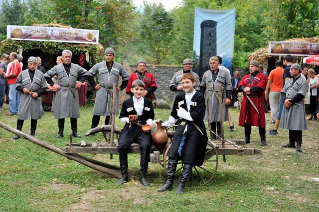 Wine Festival in Racha region of Georgia
