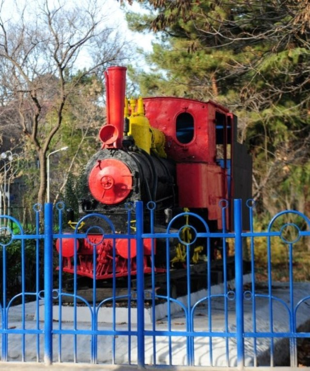 Steam Locomotive in Mushtaidi Park Tbilisi