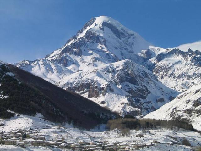 The President of Georgia climbed Mount Kazbegi. Photo courtesy of the President's Administration.