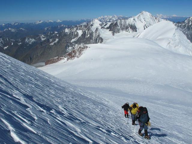The President of Georgia climbing Mount Kazbegi. Photo courtesy of the President's Administration_3