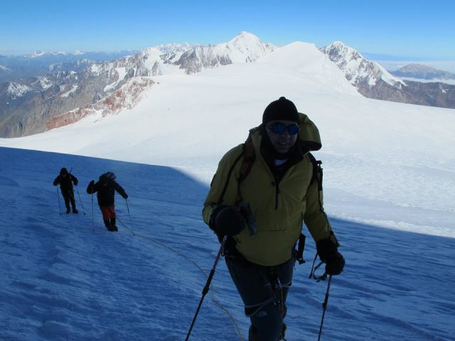 The President of Georgia climbing Mount Kazbegi. Photo courtesy of the President's Administration_5