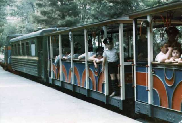 Train on the Pioneri station in Tbilisi. Photo by P. Strelkov. 1986