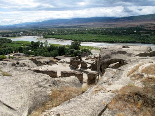 Uplistsikhe cave city overlooking the Mtkvari river
