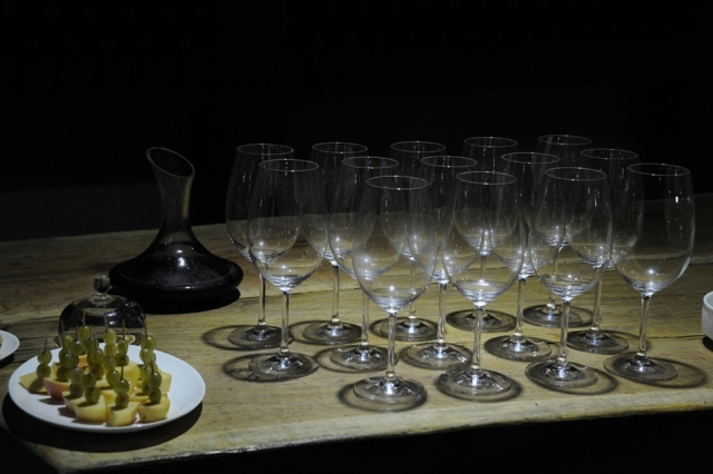 Wine degustation at the Winery Khareba Tourist Complex at Kvareli Gvirabi. Photo courtesy of Winery Khareba.