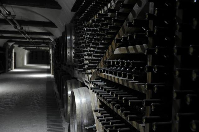Wine Stored in Tunnels at Kvareli Gvirabi. Photo courtesy of Winery Khareba.