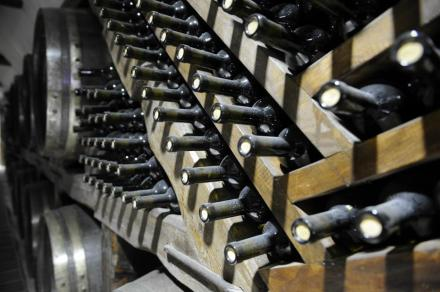Winery Khareba wine stored at Kvareli Gvirabi. Photo courtesy of Winery Khareba.