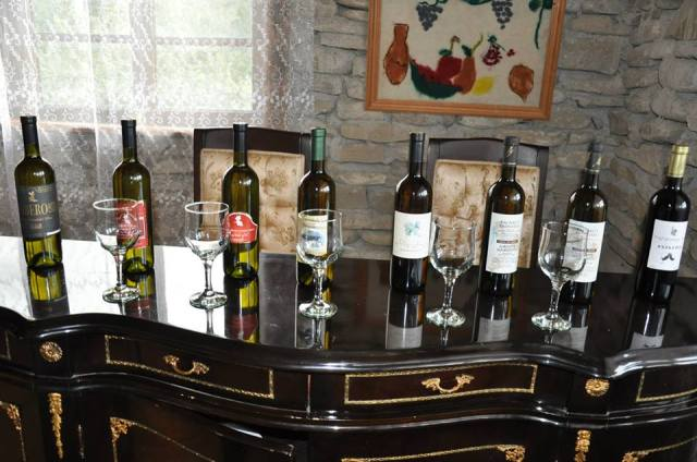 Wines at the Wine Day at the Wine House in Kachreti