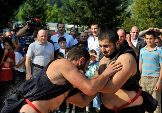Wrestling at the Wine Festival in Racha – 31 August 2013