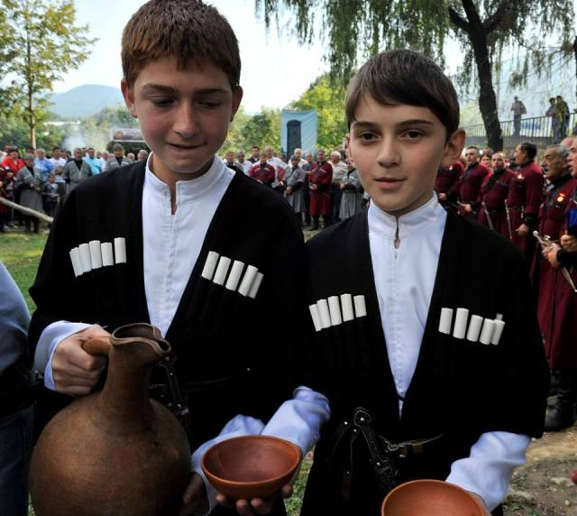 Young Participants at the Wine Festival in Racha – 31 August 2013