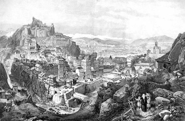Engraving of Tbilisi dated 1888