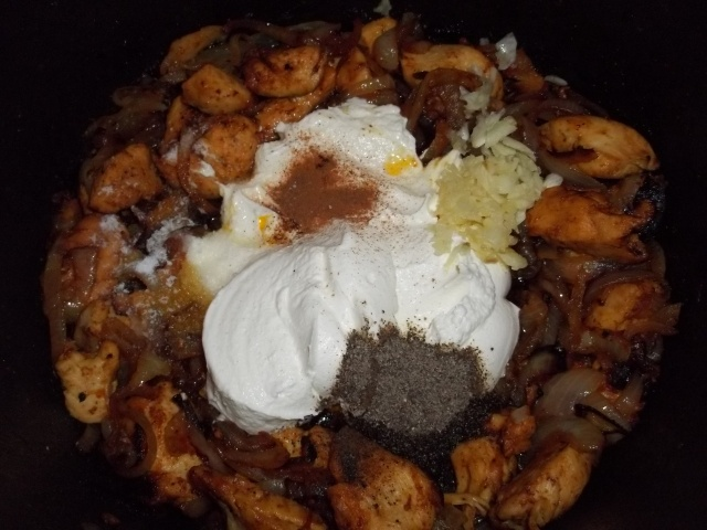 Adding Sour Cream and other Ingredients