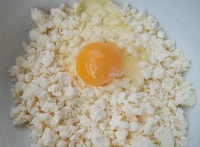 Cheese and Egg for Svanetian Khachapuri