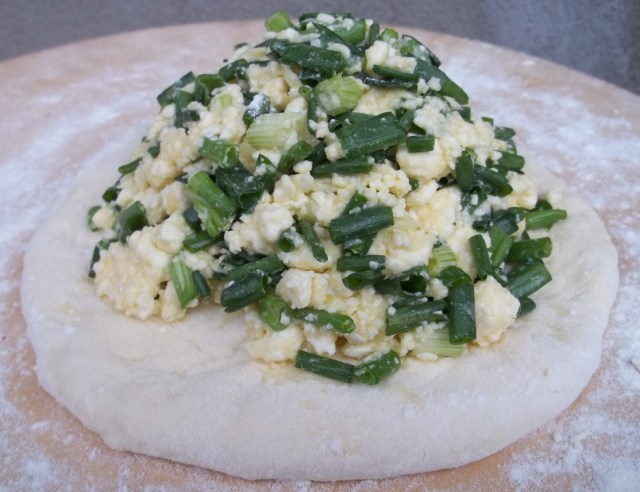 Cheese and Green Onion Filling for Svanetian Khachapuri