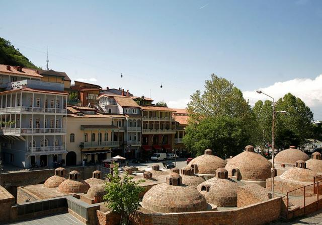 """Abanotubani"" public bathhouses in Tbilisi's Old Town. Photo courtesy of Tbilisi Government."