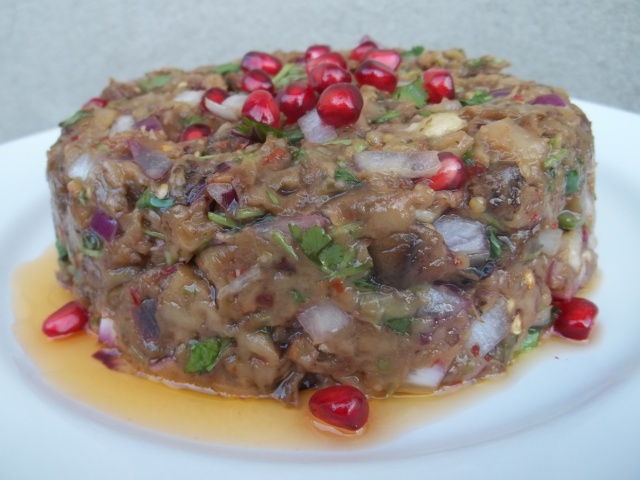 Eggplant Caviar with Pomegranate