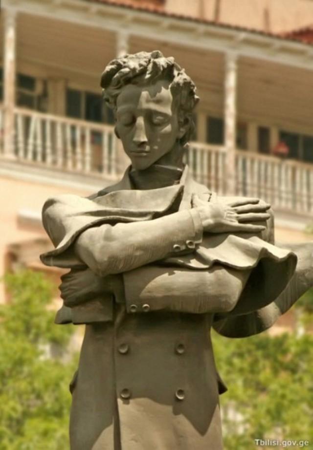 Statue of Nikoloz Baratashvili in Baratashvili Square, Tbilisi