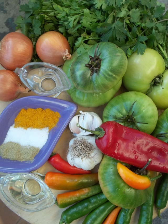Ingredients for Marinated Green Tomatoes