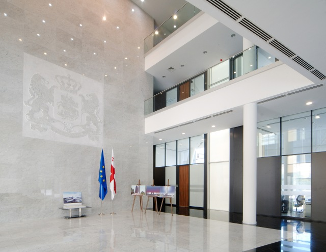Interior of the Ministry of Justice  Headquarters, Tbilisi