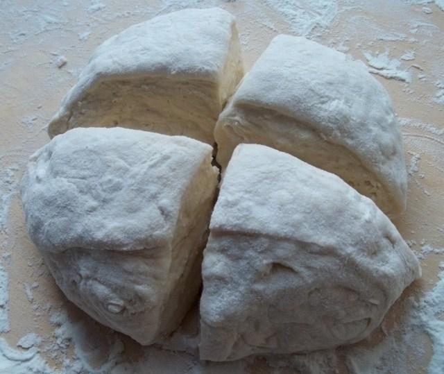 Quarters of Dough for Kubdari Recipe