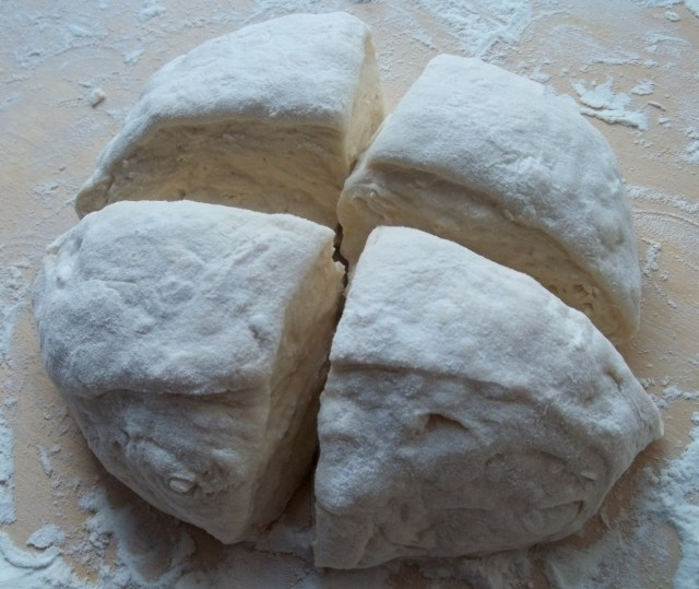 Quarters of Dough for Kubdari Recipe