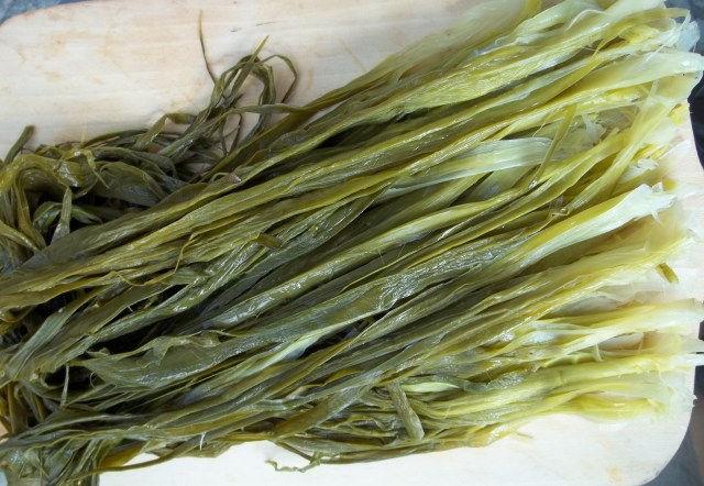 Strips of Shallot for Shallot Satsivi Recipe