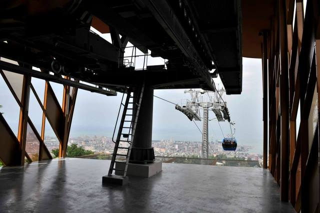 The Upper Station of the Batumi Aerial Tramway