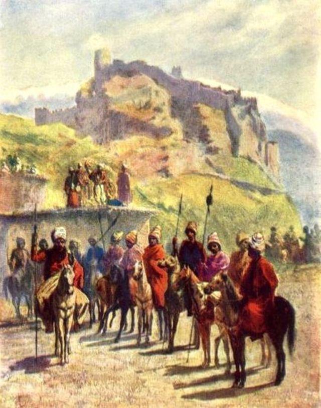 Una ilustración de Atskuri Fortaleza publicado en 1847
