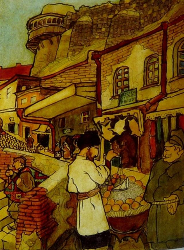 Borys Romanowski a Polish painter in Georgi