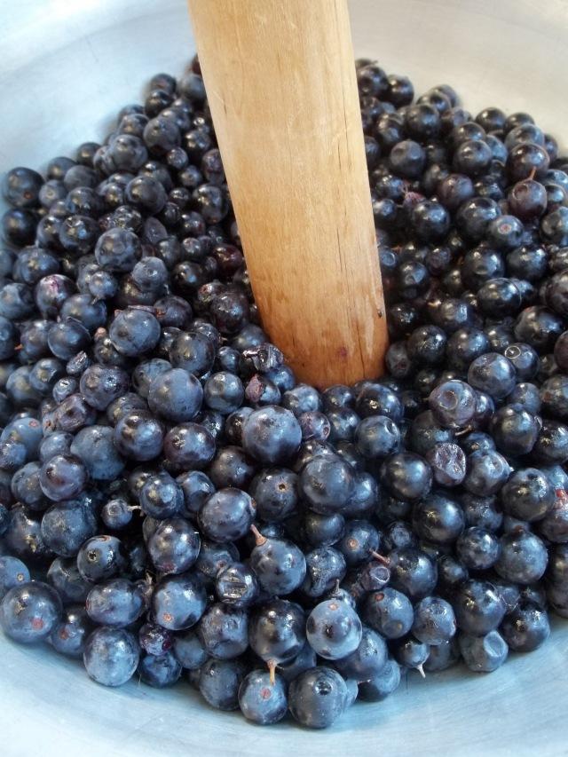 Crushing Grapes to make Badagi