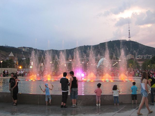Fountain in Rike Park, Tbilisi Photo by Kober, via Wikimedia Commons