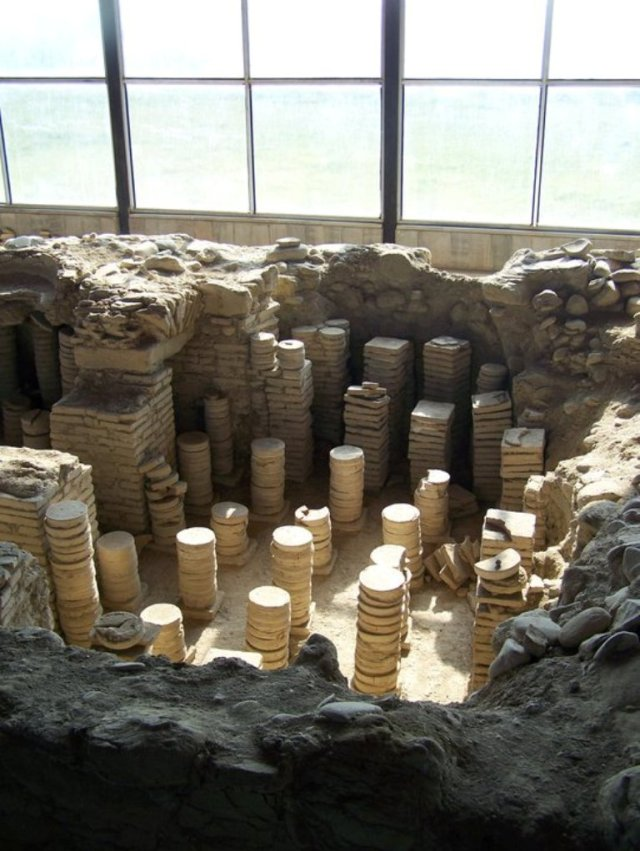 Hypocaust at Dzalisa Archaeological Site