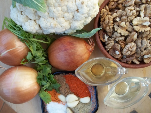 Ingredients for Cauliflower with Walnuts